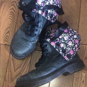 Floral Doc Martens Shoes
